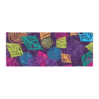 Emine Ortega African Beat Bed Runner Color: Purple