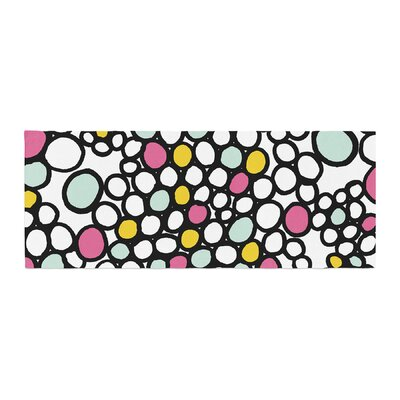 Emine Ortega Pebbles Bed Runner Color: Pink