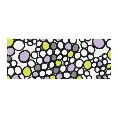 Emine Ortega Pebbles Bed Runner Color: Lilac