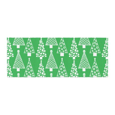 Emine Ortega Jolly Trees Royal Bed Runner Color: Green
