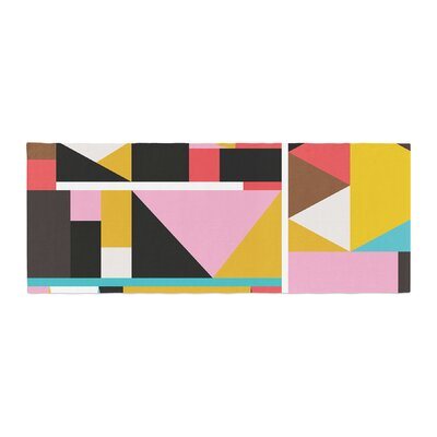 Fimbis Kaku To Abstract Geometric Bed Runner