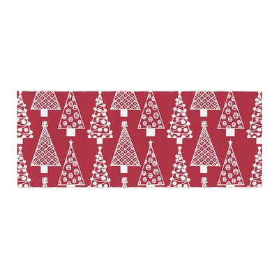 Emine Ortega Jolly Trees Royal Bed Runner Color: Red