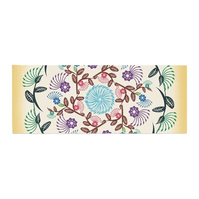 Famenxt Nature Mandala Bed Runner