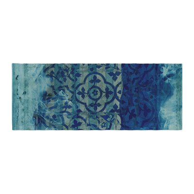 Frederic Levy-Hadida Mosaic in Cyan Bed Runner