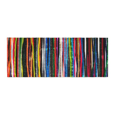 Frederic Levy-Hadida Fancy Stripes Bed Runner Color: Black