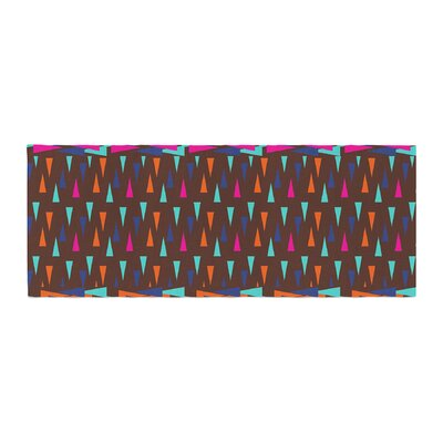 Famenxt Abstract Triangle Pattern Bed Runner