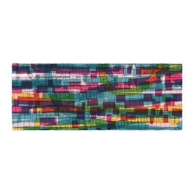 Frederic Levy-Hadida Squares Traffic Bed Runner Color: Pastel