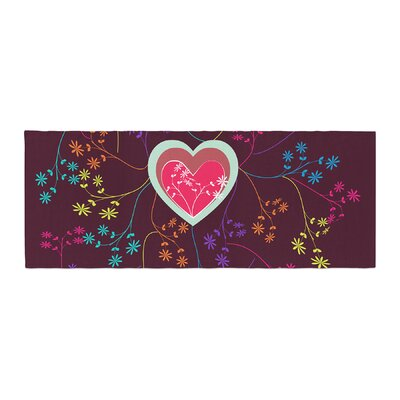 Famenxt Love Heart Heart Bed Runner