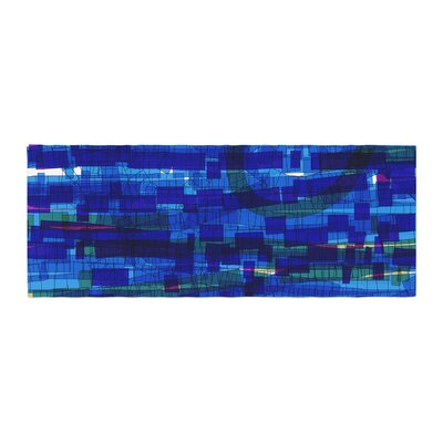 Frederic Levy-Hadida Squares Traffic Bed Runner Color: Blue