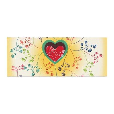 Famenxt Romantic Heart Bed Runner