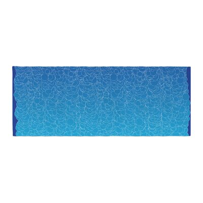 Frederic Levy-Hadida Bubbling Bed Runner Color: Blue