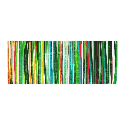 Frederic Levy-Hadida Fancy Stripes Bed Runner Color: Green