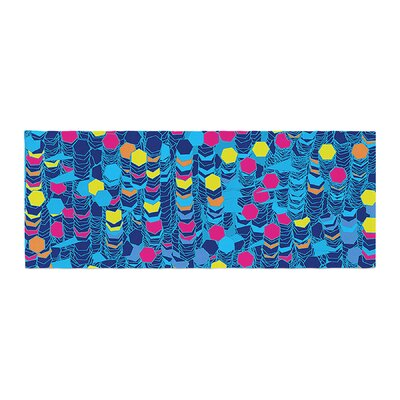 Frederic Levy-Hadida Color Hiving Abstract Bed Runner Color: Navy