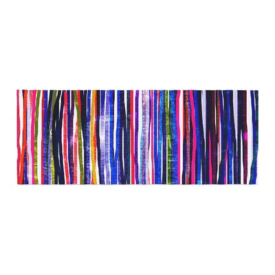 Frederic Levy-Hadida Fancy Stripes Bed Runner Color: Purple