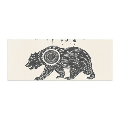 Famenxt Boho Ornate Bear Bed Runner