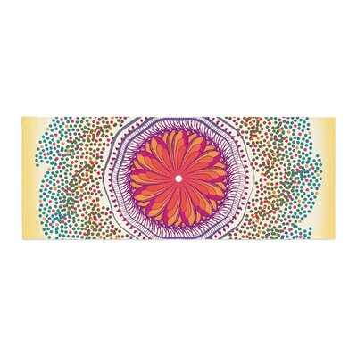 Famenxt Confetti Dots Mandala Abstract Bed Runner