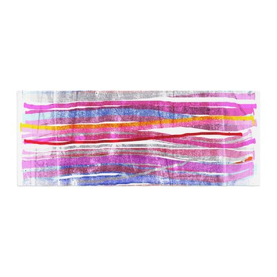 Frederic Levy-Hadida Fancy Stripes Bed Runner Color: Pink