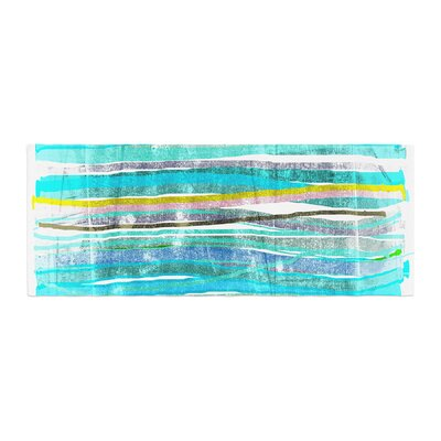 Frederic Levy-Hadida Fancy Stripes Bed Runner Color: Aqua