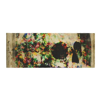 Frederic Levy-Hadida Floral Skully Bed Runner