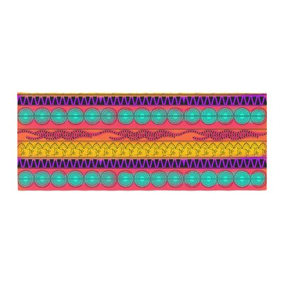 Famenxt Pattern Watercolor Colorful Pattern Bed Runner