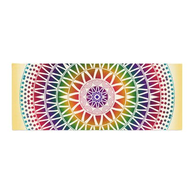 Famenxt Colorful Vibrant Mandala Geometric Bed Runner