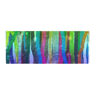 Frederic Levy-Hadida Jungle Stripes Painting Bed Runner Color: Green