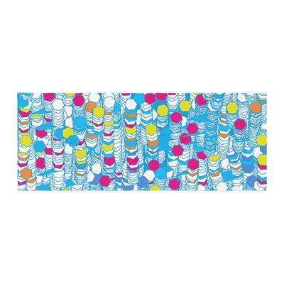 Frederic Levy-Hadida Color Hiving Abstract Bed Runner Color: Blue