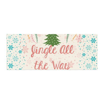 Famenxt Jingle All the Way Holiday Digital Bed Runner