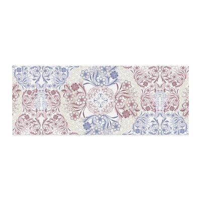 Famenxt Floral Dense Garden Illustration Bed Runner