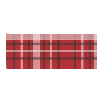 Famenxt Plaid Digital Bed Runner