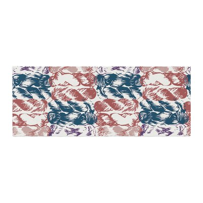 Fernanda Sternieri Nice Knot Bed Runner Color: Blue/Red