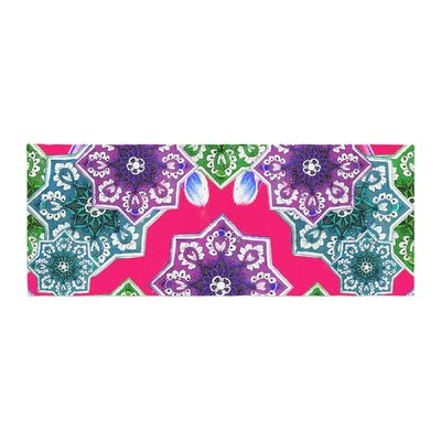 Fernanda Sternieri Flower Power Floral Bed Runner Color: Red