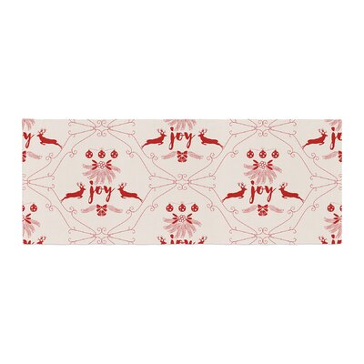 Famenxt Christmas Joy Pattern Digital Bed Runner