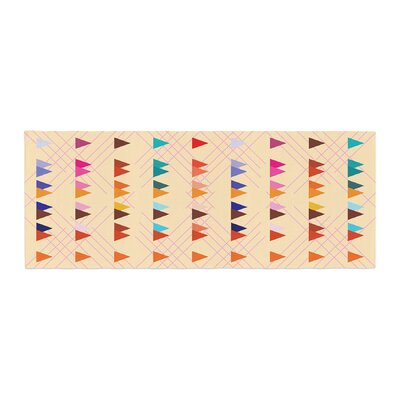 Famenxt Bohemian Triangle Pattern Illustration Bed Runner