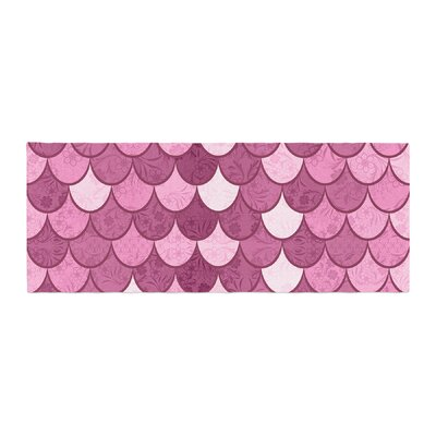 Famenxt Mermaid Pattern Illustration Bed Runner
