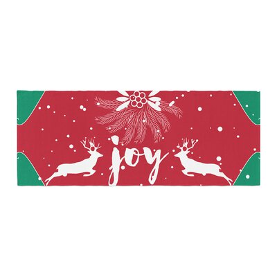 Famenxt Christmas Joy Digital Bed Runner
