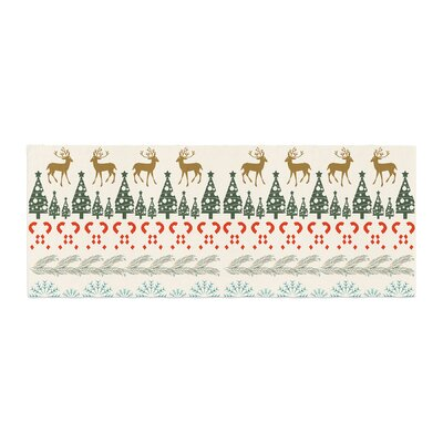 Famenxt Christmas Vibes Holiday Pattern Bed Runner