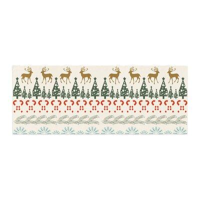Famenxt Christmas Vibes Holiday Pattern Bed Runner