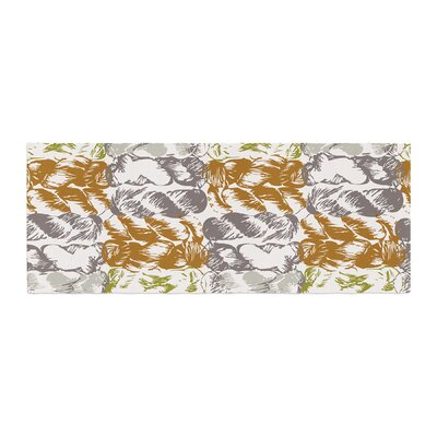 Fernanda Sternieri Nice Knot Bed Runner Color: Gray/Orange