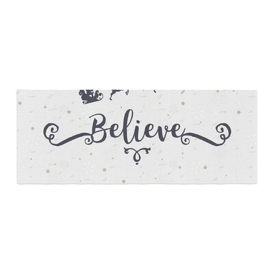 Famenxt Christmas Believe Illustration Bed Runner