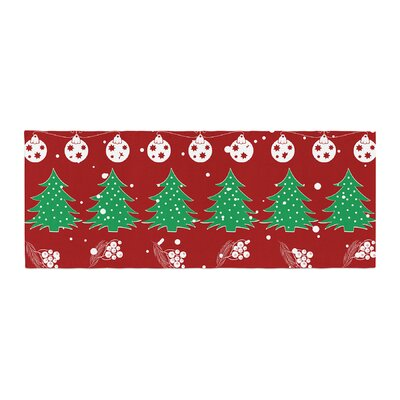 Famenxt Christmas Vibes Illustration Bed Runner