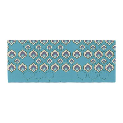 Fernanda Sternieri Happy Path Pattern Bed Runner Color: Blue