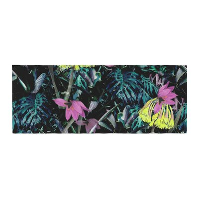 Fernanda Sternieri Night Garden Neon Flowers Bed Runner