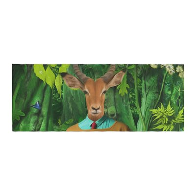 Natt Into the Leaves N4 Antelope Bed Runner