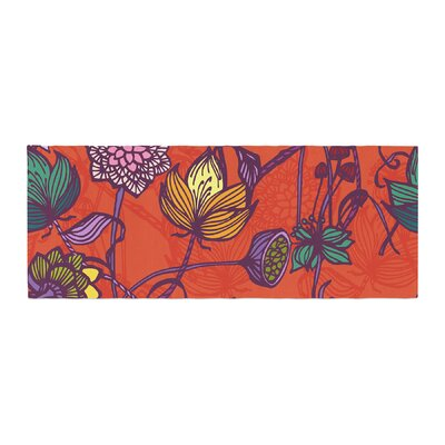 Gill Eggleston Garden Blooms Hot Floral Bed Runner
