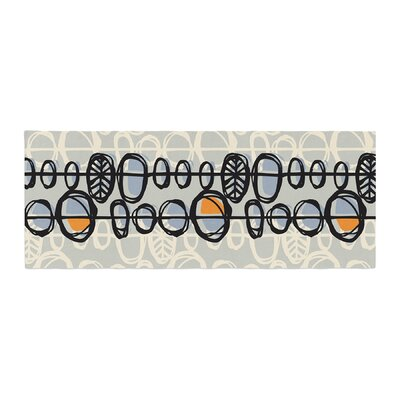 Gill Eggleston Benin Bed Runner Color: Black/Dark Gray
