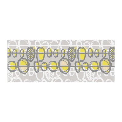 Gill Eggleston Benin Bed Runner Color: Yellow/Gray