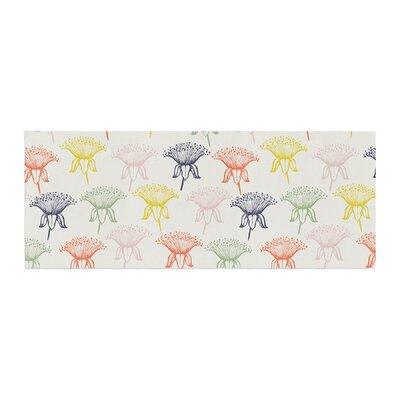 Gukuuki Rainbow Poppies Floral Bed Runner