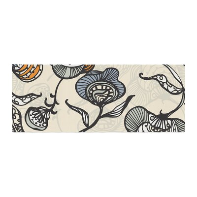 Gill Eggleston Future Nouveau Floral Bed Runner