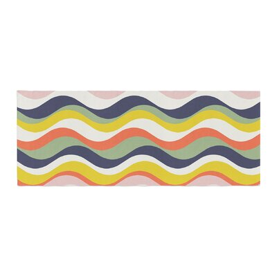 Gukuuki Rainbow Stripes Stripe Bed Runner